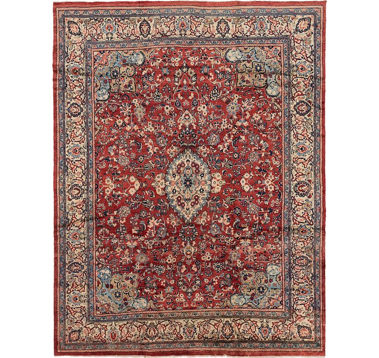 10' x 13' 2 Meshkabad Persian Rug
