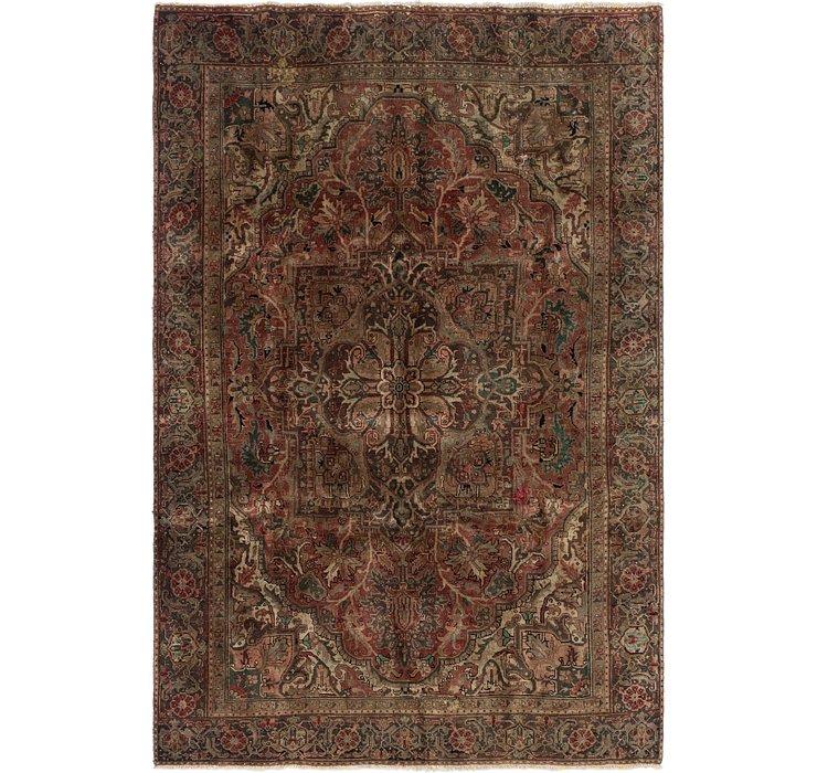 7' 2 x 11' Heriz Persian Rug