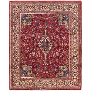 Link to 282cm x 385cm Meshkabad Persian Rug item page