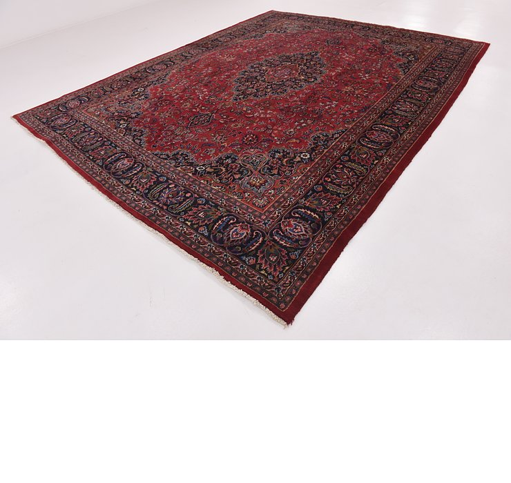 HandKnotted 9' 7 x 12' 7 Mashad Persian Rug