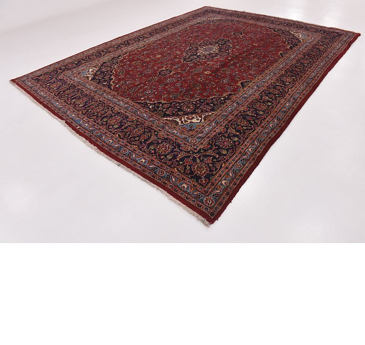 HandKnotted 9' 10 x 13' Kashan Persian Rug