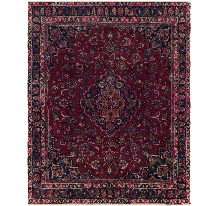 245cm x 318cm Mashad Persian Rug