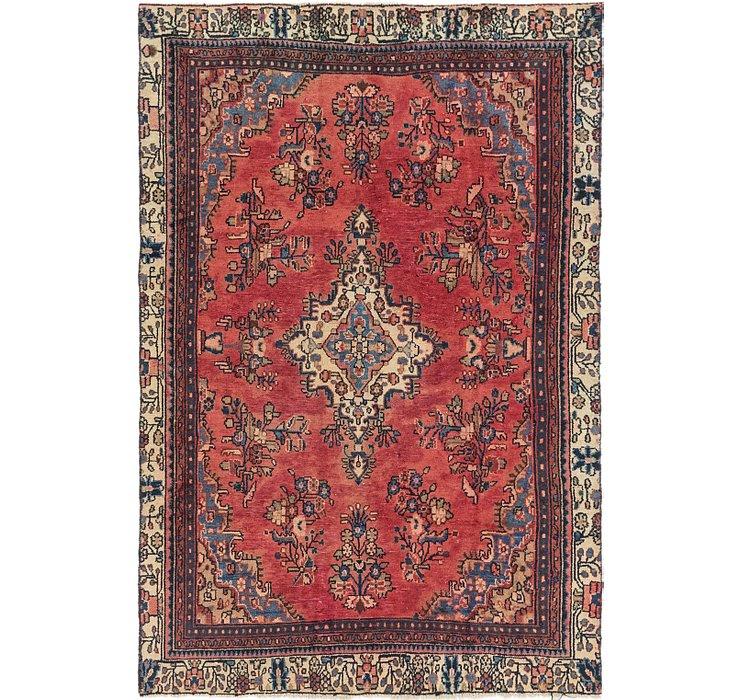 5' 10 x 8' 10 Hamedan Persian Rug