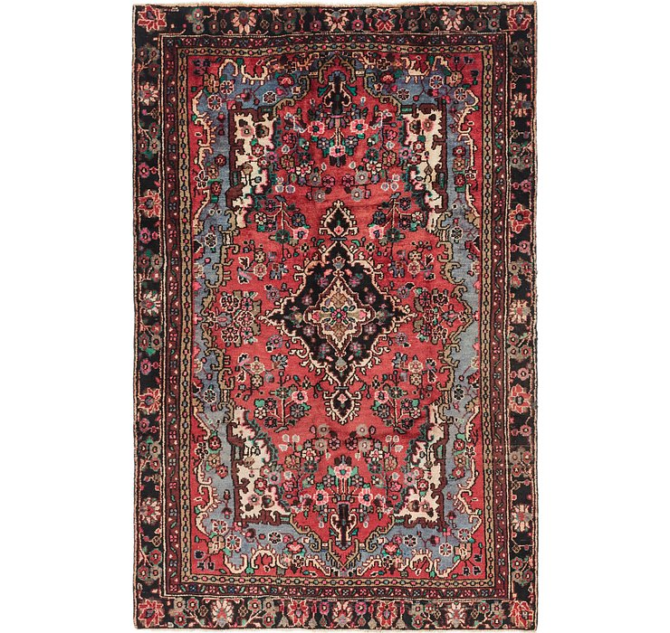 6' x 9' 6 Hamedan Persian Rug
