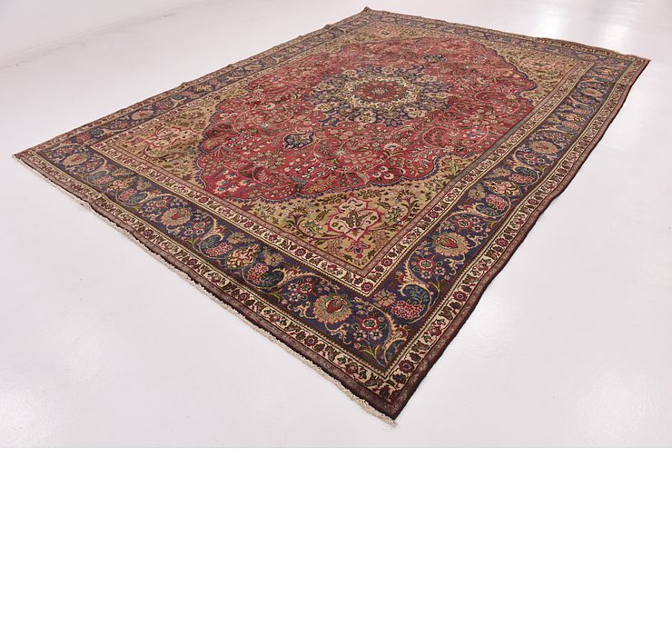 HandKnotted 9' 4 x 13' Mashad Persian Rug