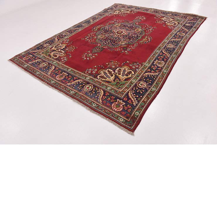 HandKnotted 7' 9 x 11' Tabriz Persian Rug