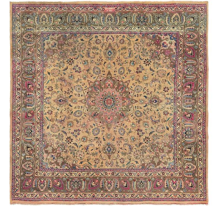 9' 6 x 10' Mashad Persian Square Rug
