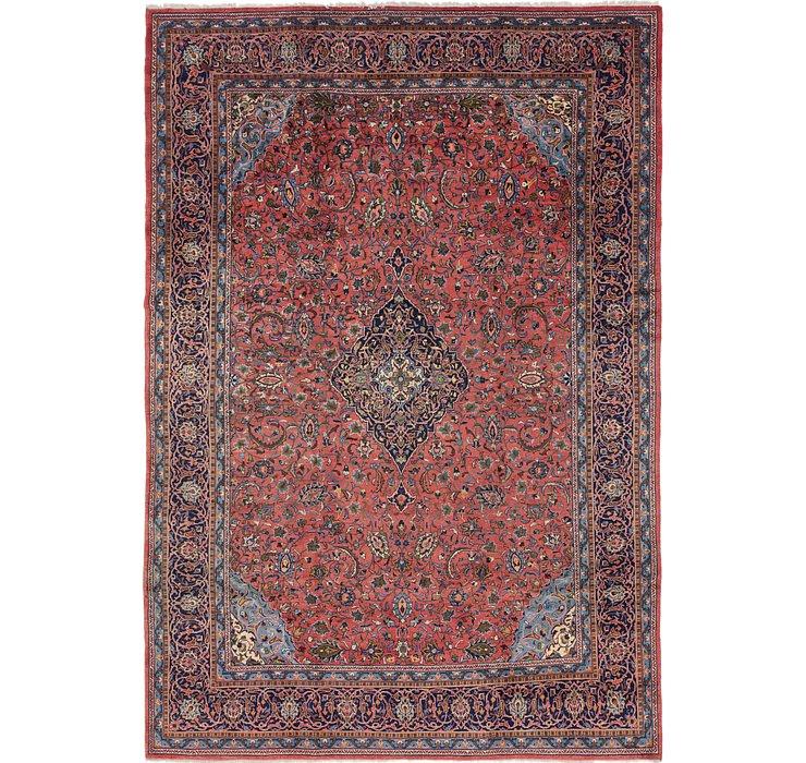 9' 2 x 13' 8 Kashan Persian Rug