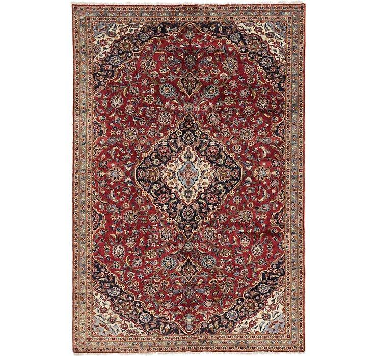 7' x 10' 9 Kashan Persian Rug