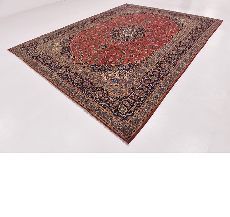 HandKnotted 9' 10 x 12' 10 Kashan Persian Rug