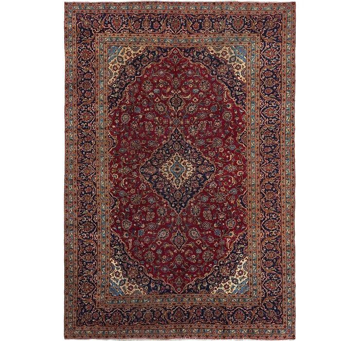 8' x 11' 7 Kashan Persian Rug
