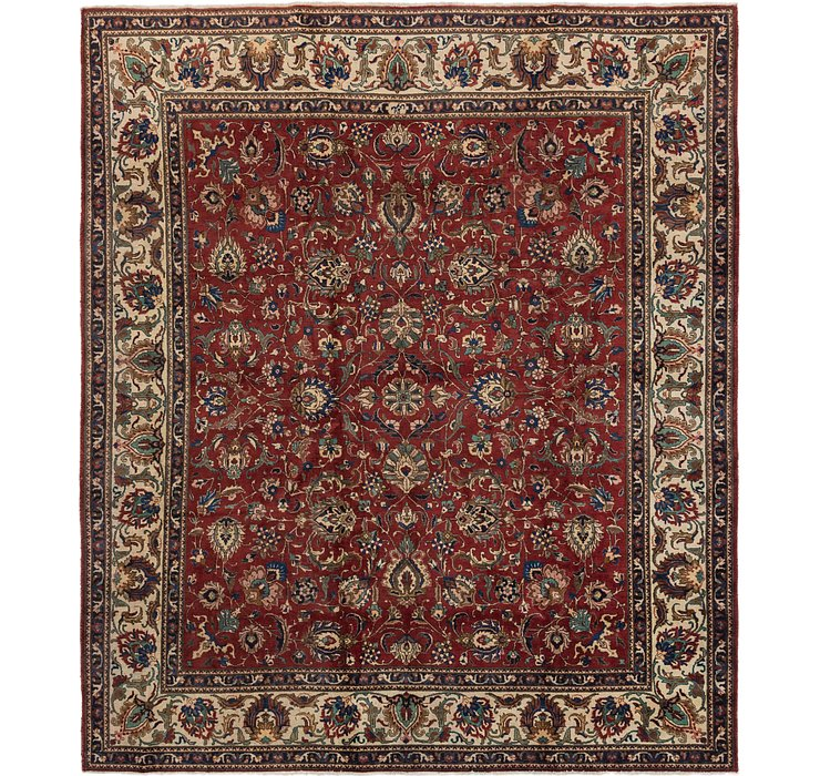 11' x 12' 9 Tabriz Persian Square Rug