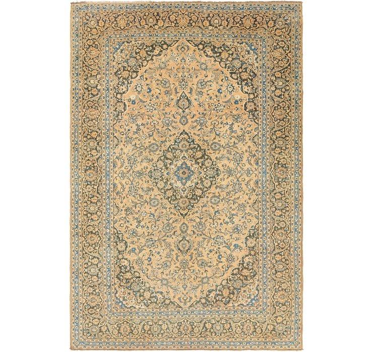9' 9 x 14' 10 Kashan Persian Rug