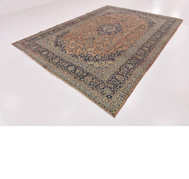 9' x 12' 6 Kashan Persian Rug