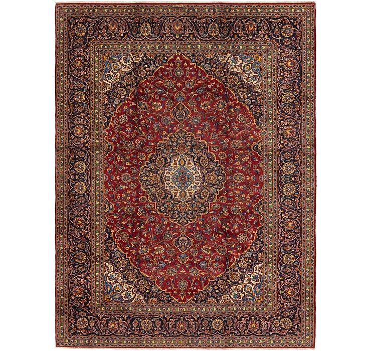 9' x 11' 1 Kashan Persian Rug