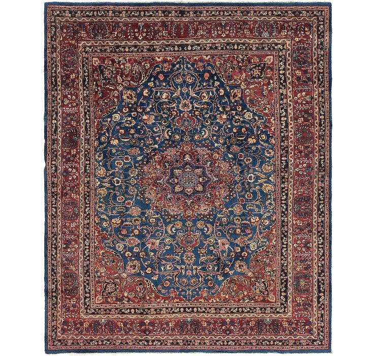 9' 4 x 12' Mashad Persian Rug