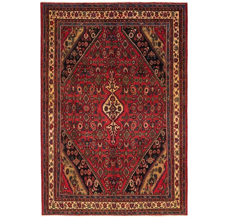 7' x 10' 5 Hamedan Persian Rug