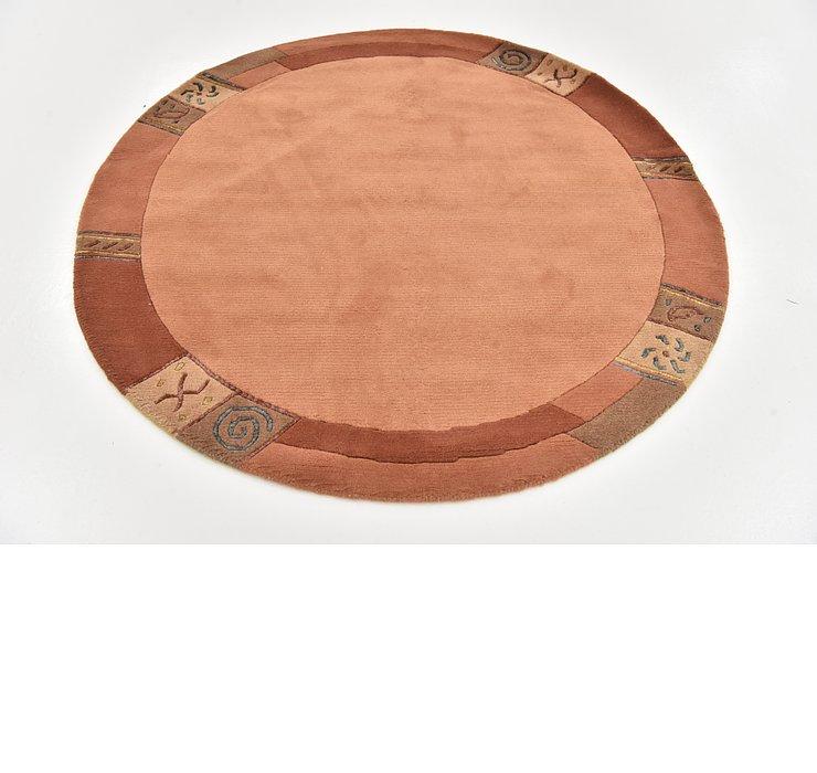 4' 10 x 4' 10 Indo Tibet Round Rug