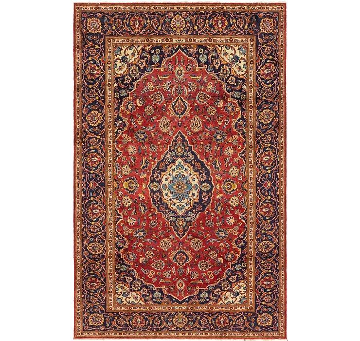 8' x 12' 6 Kashan Persian Rug