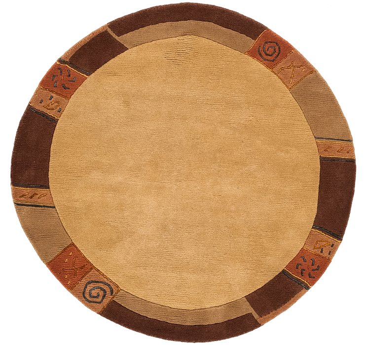 4' 10 x 5' Tibet Round Rug