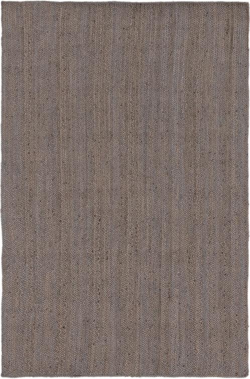 Gray  5' 2 x 8' Braided Jute