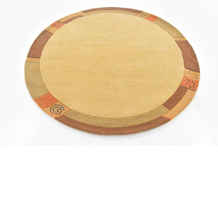 6' 7 x 6' 8 Indo Tibet Round Rug