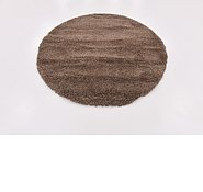 Link to 160cm x 163cm Solid Shag Round Rug