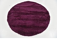 Link to 160cm x 160cm Solid Shag Round Rug