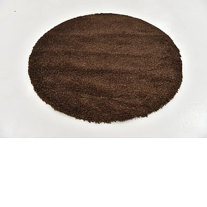 Link to 160cm x 160cm Solid Shag Round Rug item page
