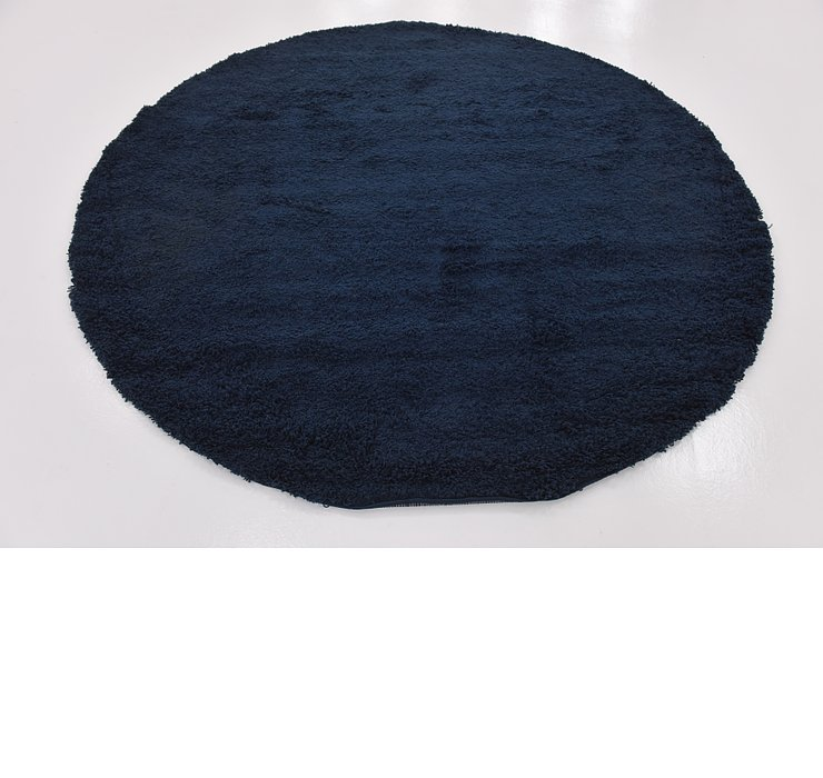 8' 2 x 8' 2 Solid Shag Round Rug