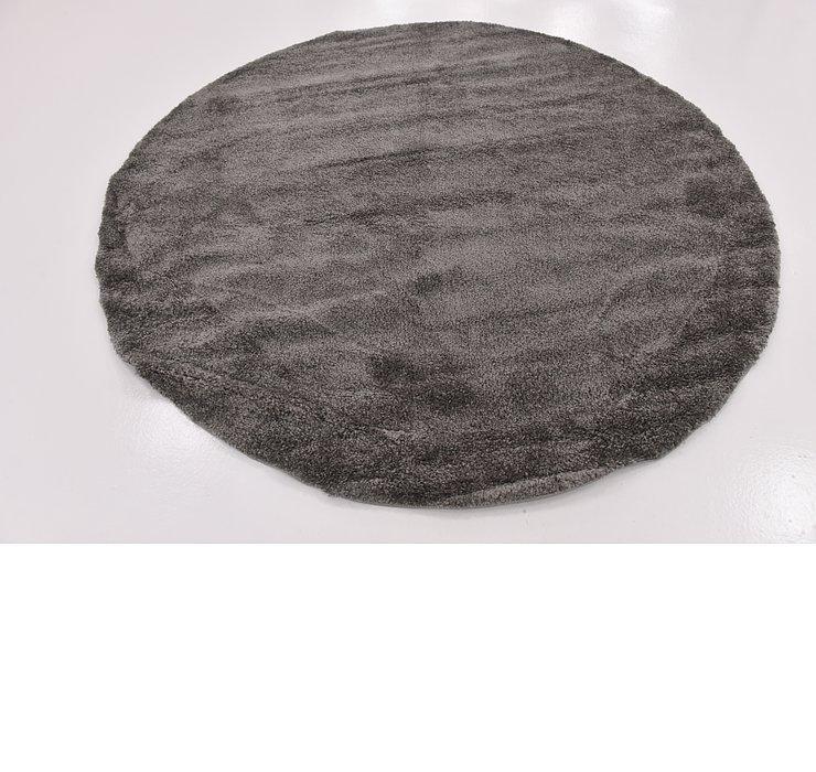 8' x 8' Solid Frieze Round Rug