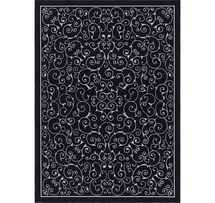 7' 9 x 10' 10 Outdoor Botanical Rug