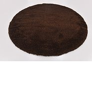 Link to 195cm x 200cm Solid Shag Round Rug