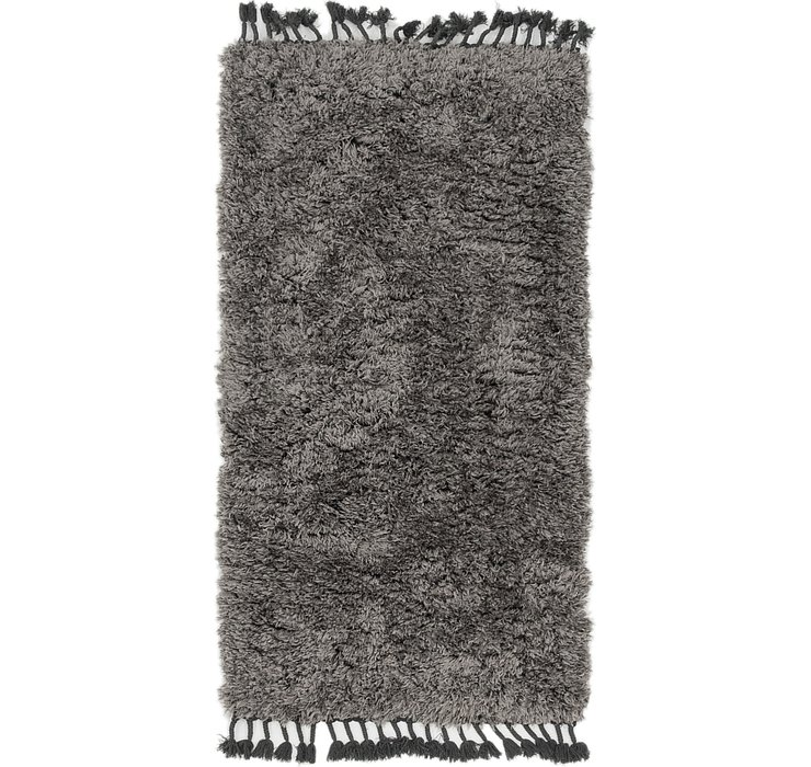 2' 8 x 5' Luxe Solid Shag Rug