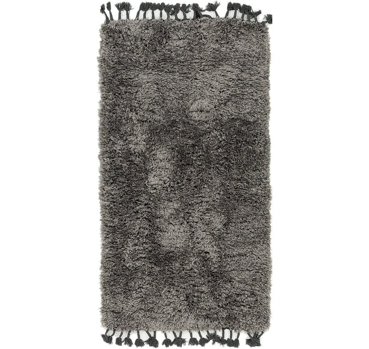 2' 9 x 5' Luxe Solid Shag Rug