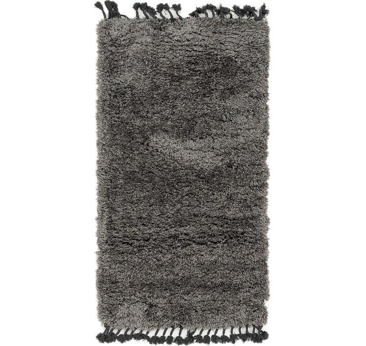 80cm x 152cm Solid Shag Rug