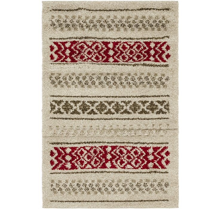 3' 4 x 5' 2 Luxe Frieze Rug