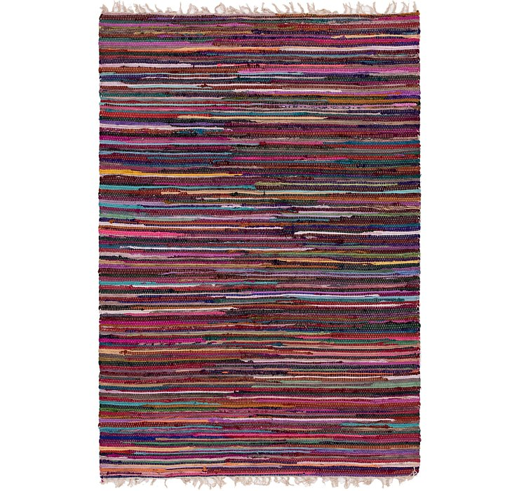 4' 7 x 6' 9 Chindi Cotton Rug