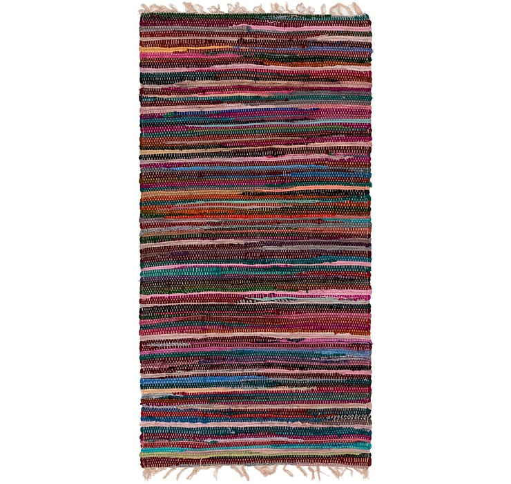 2' 4 x 4' 8 Chindi Cotton Rug