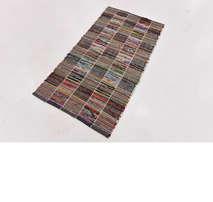 2' 4 x 4' 6 Chindi Cotton Rug
