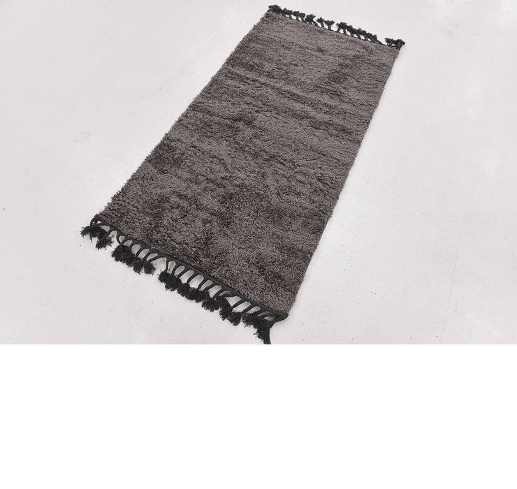 2' 7 x 5' Solid Shag Rug