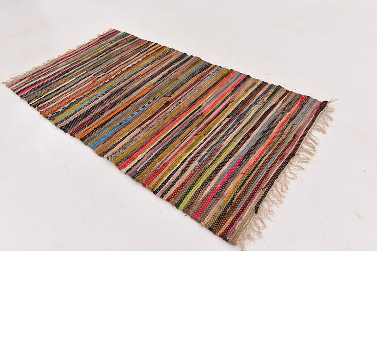 2' 5 x 4' 7 Chindi Cotton Rug