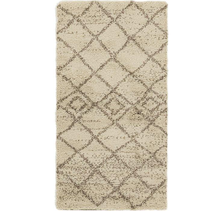 2' 7 x 5' Textured Shag Rug