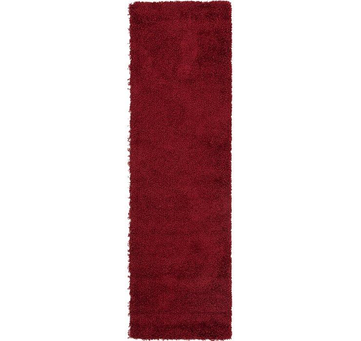 2' 2 x 7' 5 Solid Shag Runner Rug