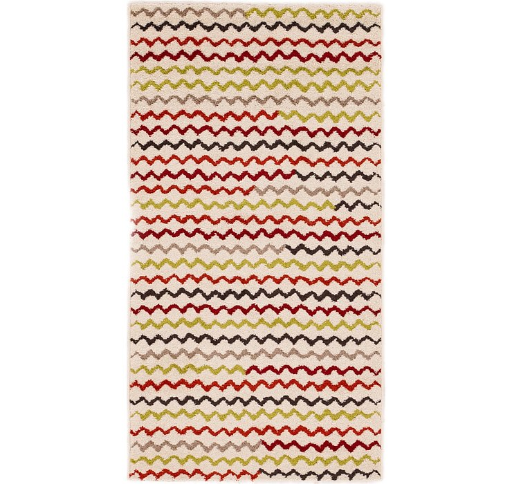 2' 7 x 5' Reproduction Gabbeh Rug