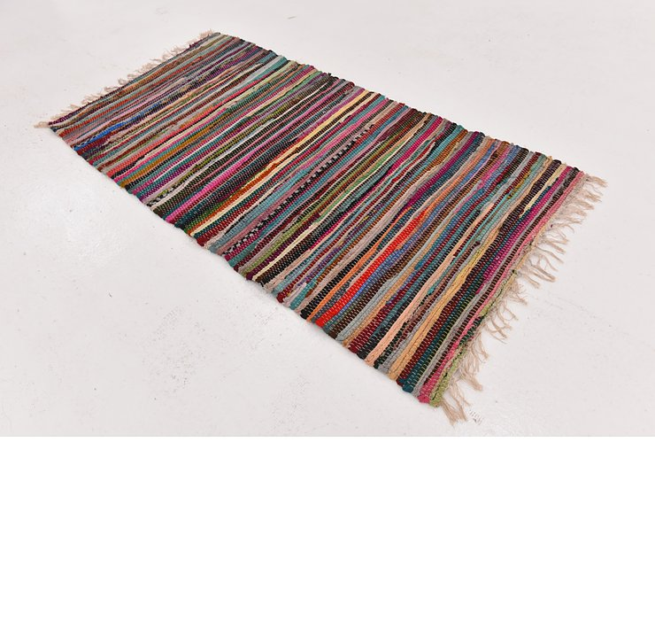 2' 5 x 4' 8 Chindi Cotton Rug