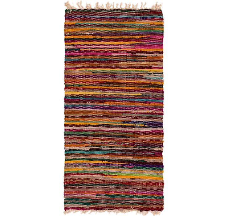 2' 4 x 4' 10 Chindi Cotton Rug
