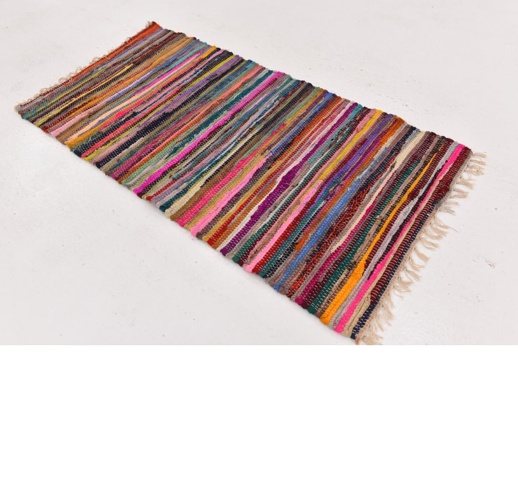 2' 4 x 4' 7 Chindi Cotton Rug