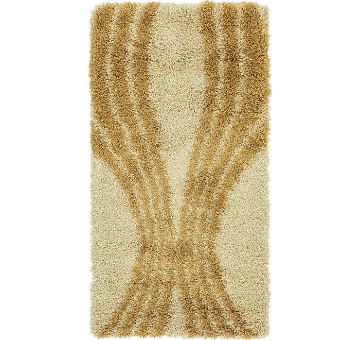 2' 8 x 5' Textured Shag Rug