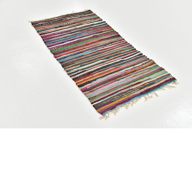 2' 4 x 4' 8 Chindi Cotton Rug